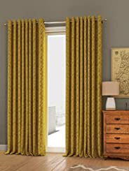 Curtain Label Arezzo self textured jacquard set of 2 curtains