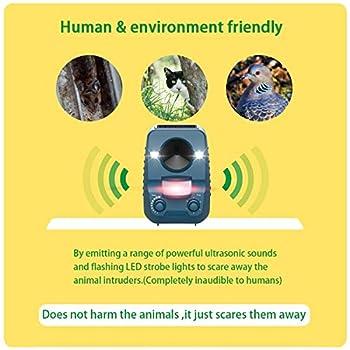 Ommani Répulsif Chat Ultrason Solaire pour éloigner Les Animaux Nuisibles de Votre Jardin | Rongeurs Taupes Chats Chiens Oiseaux Foxes et Autres