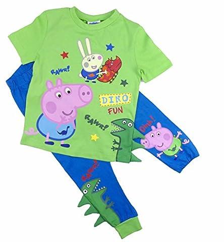 Jungen George Pig Pyjamas Nachtwäsche Dinosaurier Thema Spaß Spike Detail Ex store - George Pig, 80-86