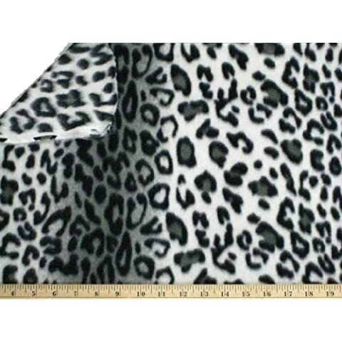 """LA Linen â""""¢ Printed Polar Fleece by the yard 58/60-Inches Wide, Leopard by Fabric & Fabric"""