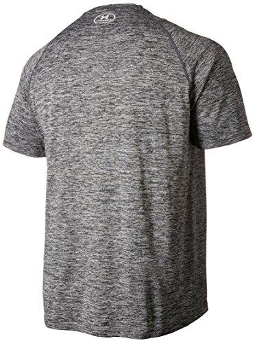 Under Armour Men's Fitness Und Tank Ua Tech Ss Tee Short-Sleeve T-Shirt BLK//WHT