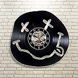 JIANGRC profuma come lo spirito adolescenziale Orologio da parete in vinile Art Gift Room Modern Family Record Retro Decoration