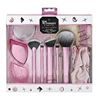 Real Techniques Limited Edition Star Studded Full Face Makeup Brush Set with Clutch, Hairband and Compact Mirror