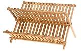 Bambus Abtropfgestell PRAKTISCH KOMPAKT Geschirrständer