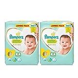 Pampers Gr.2 Premium Protection Jumbo Plus Vorteilspack 2 Packungen 68 = 136 Windeln seidig weich bester Schutz für Neugeborene komplett mit eBook Baby Kleinkind Tips von Aetn