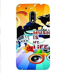 PrintVisa Quotes & Messages Music 3D Hard Polycarbonate Designer Back Case Cover for Motorola Moto G4 PLAY