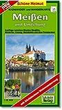 Radwander- und Wanderkarte Meißen und Umgebung: Radeln und Wandern zwischen Diesbar-Seußlitz, dem Triebischtal, Coswig, Weinböhla und Niederau. 1:20000 (Schöne Heimat)