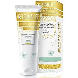 Termalife Sebium Control Schlamm-Maske - Gesichtsmaske für fettige Haut - Gegen Hautunreinheiten, Pickel, Mitesser, Akne - Naturkosmetik für Gesicht und Körper - Natürliche Reinigung und Peeling - Tube 150 g für mind. 10 Anwendungen