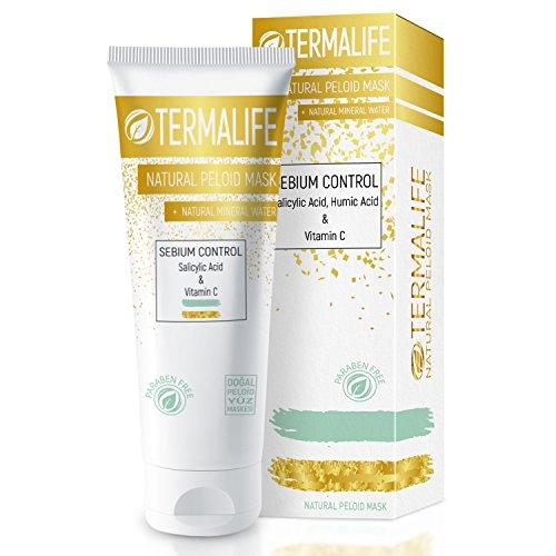 Termalife Sebium Control Schlamm-Maske Face Mask - Gesichtsmaske für fettige Haut - Gegen Hautunreinheiten, Pickel, Mitesser, Akne - Natürliche Reinigung Peeling - Tube 150 g