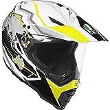 AGV Helmets Ax8 Dual Evo E05 Multi,Earth Blanc/Noir/Jaune,XS