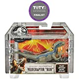 Jurassic World Attack Pack Dinosaurio Velocirraptor de Ataque, Color Azul (Mattel FPF12)
