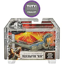 Jurassic World- Velociraptor Blue Dinosauro del Film con 5 Punti di Articolazione, 10 cm, FPF12