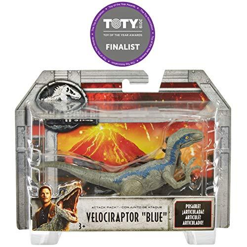 Jurassic World Dinosaur Velociraptor Attack, Toy Dinosaur (Mattel FPF12)