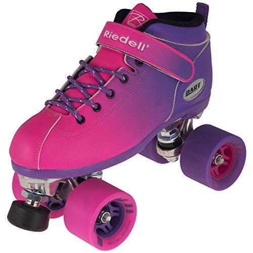 New! Riedell Dart 2 Tone Purple & Pink Ombre Quad