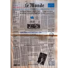 MONDE (LE) [No 16068] du 24/09/1996 - GRECE - LE PASOK EN TETE - SCRUTIN CONTESTE EN BOSNIE - LES CHIFFRES DE PEUGEOT - LE TRAVAIL CLANDESTIN VISE - DEUX ENTRETIENS - DESTINATION HIMALAYA - MARIANNE ET GERMANIA - LES QUINZE TIENNENT LE CAP DE L'EURO EN CODIFIANT LA DISCIPLINE BUDGETAIRE - M. JUPPE VEUT TOUJOURS INTRODUIRE LA PROPORTIONNELLE - TOUS LES JOURS, LA BERD A RENDEZ-VOUS AVEC LA LUNE PAR MARC ROCHE - TENNIS - EXPLOIT POUR UNE FINALE - L'ENVOL DES PAPARAZZI - LA REVOLUTION FRANCAISE