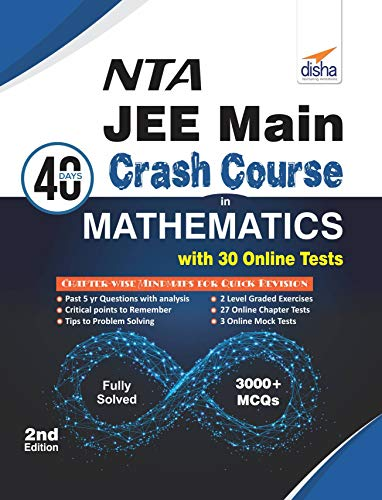 NTA JEE Main 40 Days Crash Course in Mathematics with 30 Online Test Series