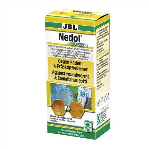 JBL 1007400 Heilmittel gegen Faden- und Fräskopfwürmer für Aquarienfische, Nedol Plus 250, 100 ml