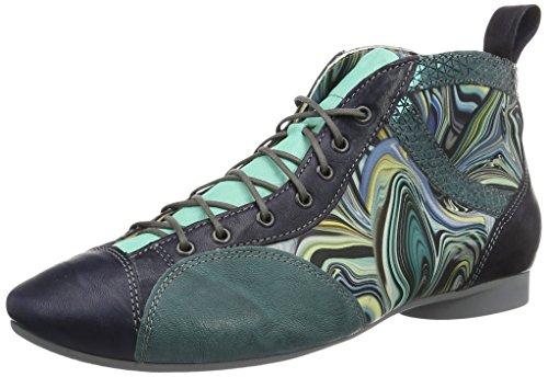 Think! Damen Guad Desert Boots Blau (navy/kombi 88)