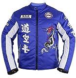 Herren Motorrad Textil Jacke in blau (XL)