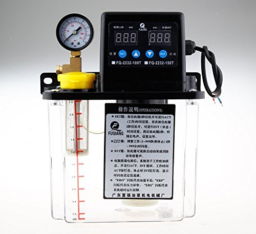 1.5L Dual Digital Display Automatische Schmierpumpe Lubrication Pump Öl Kaliber 6mm 110v