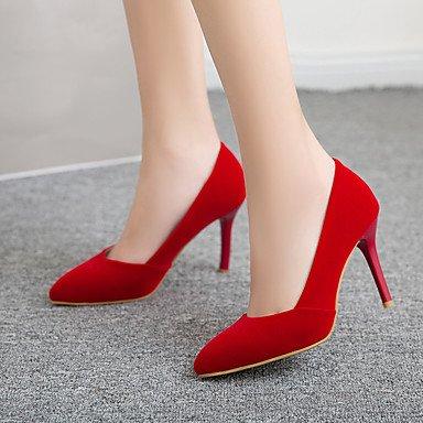 Talloni delle donne Primavera Estate Autunno tacco Altro Fleece ufficio & carriera di feste ed abito da sera a spillo Altri Nero Blu Rosso Altri Red