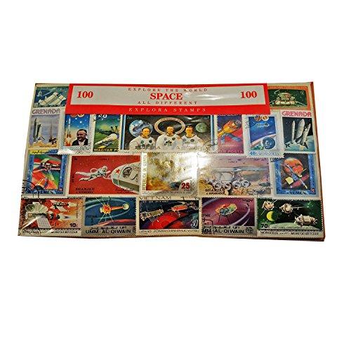 """Weltweit """"Raum Raumschiff Astronauten Briefmarken Collection - 100 verschiedene Briefmarken. Souvenir/Speicher/MEMORIA. Collectible Briefmarken aus der ganzen Welt. Timbre/francobollo/Sello (Einkaufszentrum)."""