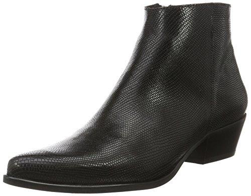 Mentor Damen Ankle Boot Cowboy Stiefel Schwarz (Black)
