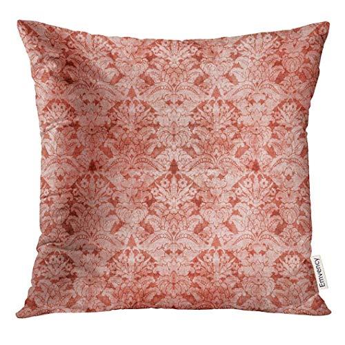 Kissen KissenbezugOrange antiker Damast-Rosa-Barock schön Decor Square Accent Pillowcase 45x45 cm (Rosa Antiker Stuhl)