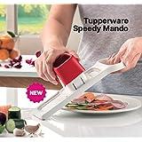 Tupperware Speedy mando cortador de alimentos, una hoja doble velocidad, Slice y almacenar en