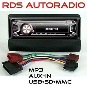 Telefunken rDS aUTORADIO numérique avec radio fM, mP3/wMA-uSB sD mMC aUX-iN, très-pour fORD fiesta focus mondeo transit galaxy