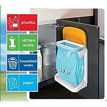 Meliconi 141084 20L Rectangular Plastic Blue, Green, Orange, Pink, White - trash cans (20 L, Rectangular, Plastic, Blue, Green, Orange, Pink, White, Manual, 280 mm)