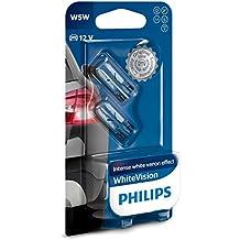 Philips 12961NBVB2 WhiteVision Bombilla para Faros Delanteros  con Efecto Xenon W5W, 2 Unidades