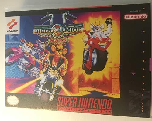 Biker Mice From Mars (Super Nintendo / SNES) - Reproduktion Videospielkartusche mit Universal Game Case und Glanzanleitung (Super Nintendo Spiel-patronen)