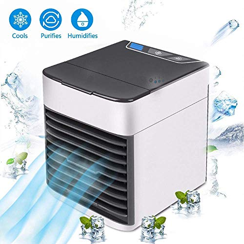 XDLUK Mini Luftkühler Leise Mobile Klimagerät Persönlicher Klimaanlagen USB Ventilator Luftumwälzung Luftbefeuchter Luftreiniger Tischventilator Tragbar für Home Büro Auto