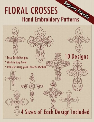 Floral Crosses Hand Embroidery Patterns
