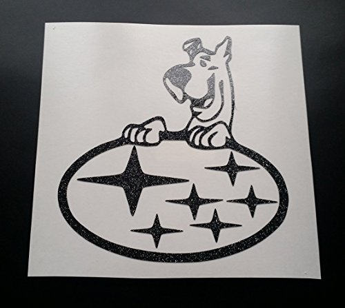 scooby-doo-subaru-stars-glitter-metal-flake-vinyl-car-sticker-decal-graphic-gold-glitter-100mm-x-109