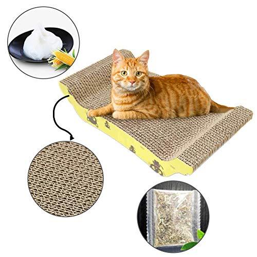 tt Katze Pappe Kratzlounge Kratzmöbel Kratzbett Kratzmöbeln aus Wellpappe Doppelseitig Kratzpad Katzenspielzeug ()