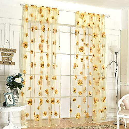 Handfly Rideau Transparent Salon Rideau Chambre Chambre Fil Rideau Salon Balcon, 95 × 200 cm / 37,4 × 78,7 Pouces