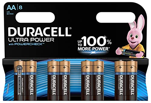 Duracell Ultra Power Alkaline AA Batterien, 8er Pack -