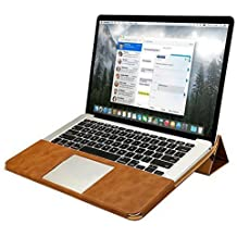 "Jisoncase ELEGANT Apple Macbook Pro Retina 13 Zoll Hülle Ständer-Design Ultrabook Laptop Tasche Macbook Pro Retina 13"" braun Case (NUR FÜR MacPro ohne CD-Laufwerk) JS-PRO-05R20"