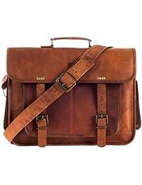 Znt Bags , 15 Inch Genuine Leather Laptop Office Messenger Bag For Men & Women NO - 1020