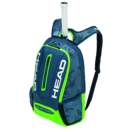Head Tour Team Backpack Tennis Schläger Tasche, unisex, Tour Team Backpack, marineblau/grün