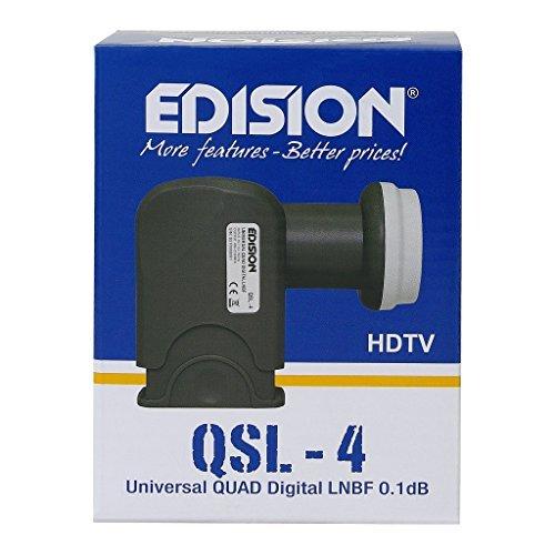 Edision QSL-4 Quad LNB Adapter für Satelliten-Receiver (4 Teilnehmer, HDTV, Wetterschutz)