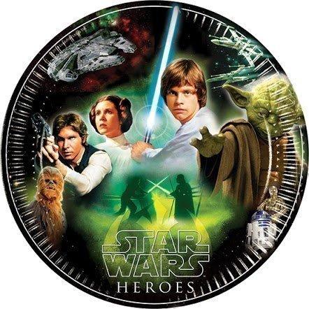 Star Wars Heroes & Villains Papier Assiettes x 8–Héros