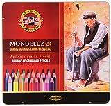 Koh-I-Noor Mondeluz 24 Crayons de Couleur Aquarelle. 3724