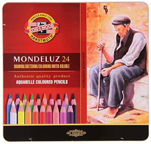 Koh-I-Noor Mondeluz Aquarell-Farbstifte (24 Stück)
