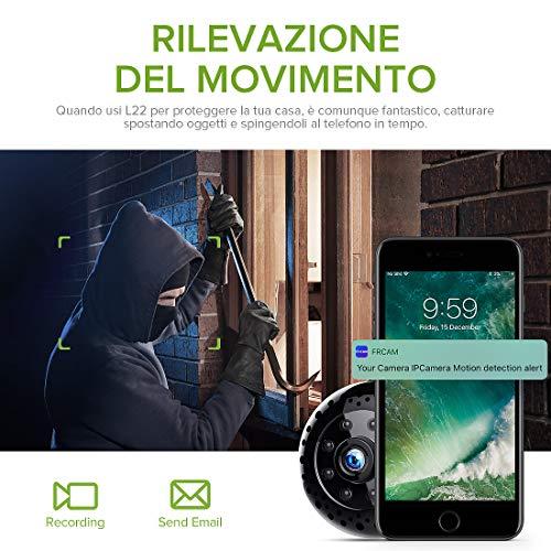 Mini Microcamere Spia,Kincam HD1080P Spia Videocamera nascosta Microcamera Videocamera Interno telecamera di sorveglianza con Visione notturna/Rilevamento del movimento di Interno Per Iphone Android - 4