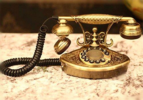 Stile europeo classico interamente in metallo con pulsante Desk retro telefono casa e ufficio telefono