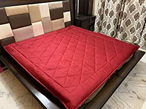 """Ab Home Decor Waterproof Dustproof Microfiber Cotton Mattresses Protector for King Size Bed (Maroon, 72"""" x 78""""inch)"""