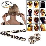 Travelmall 2pcs Girl Ladies Fashion Hair Styling Disk Hair Donut Former Foam Fre